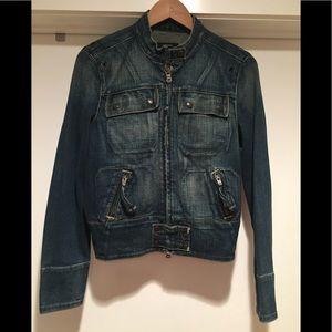 Ralph Lauren 'Biker' Style Jean Jacket